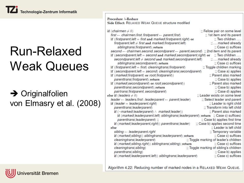 Run-Relaxed Weak Queues  Originalfolien von Elmasry et al. (2008)