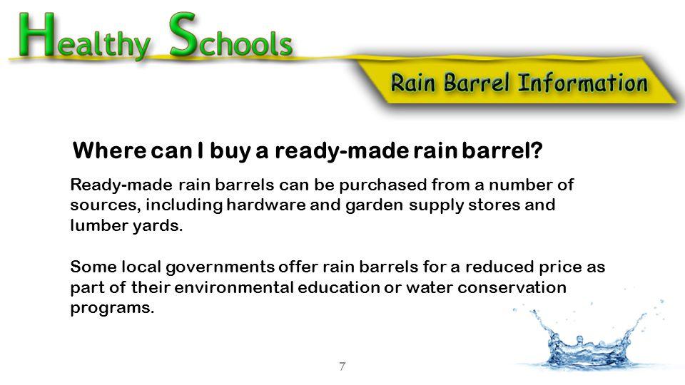 Where can I buy a ready-made rain barrel.