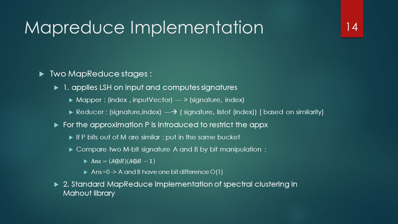 Mapreduce Implementation 14