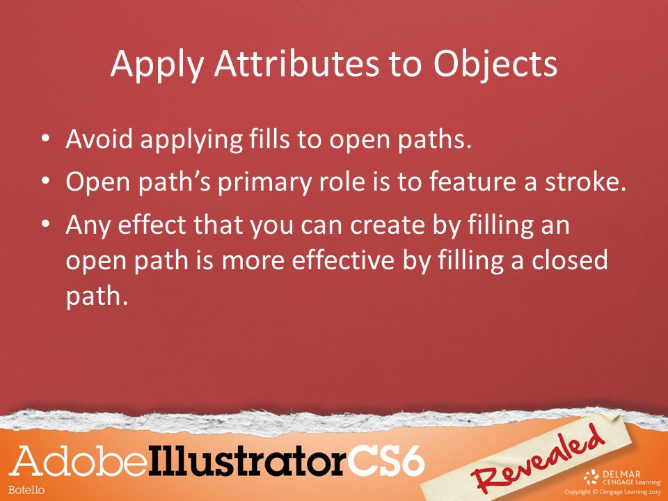 Avoid applying fills to open paths. Open path's primary role is to feature a stroke. Any effect that you can create by filling an open path is more ef