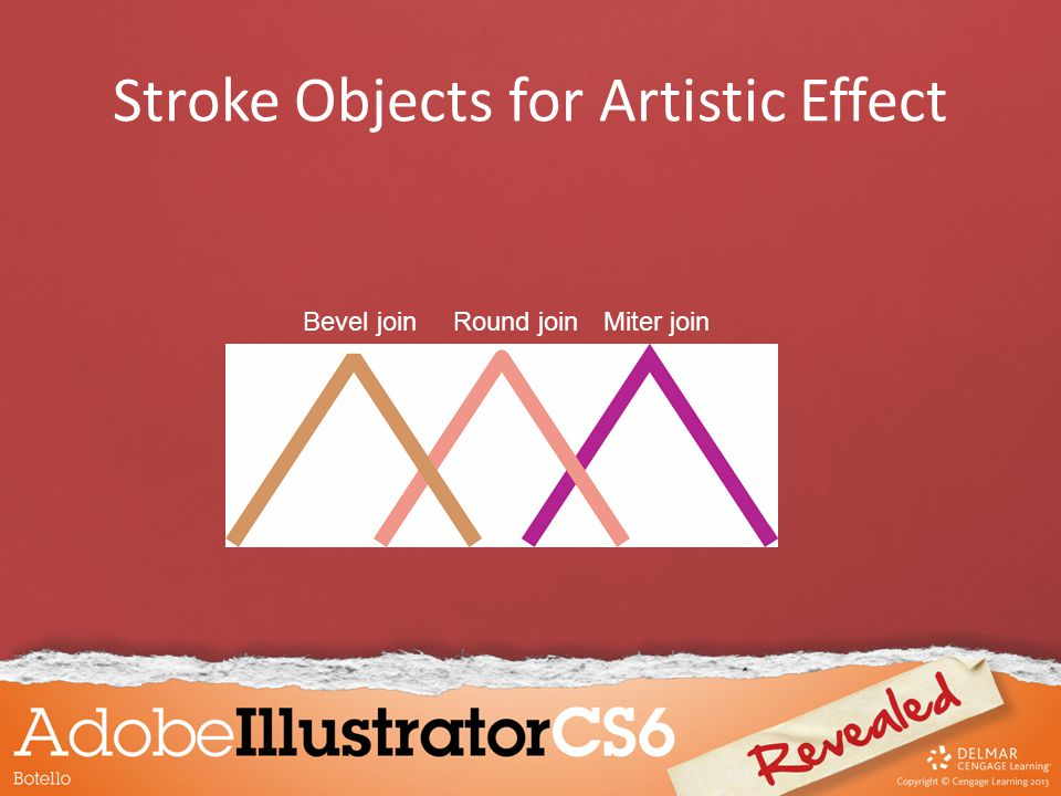 Stroke Objects for Artistic Effect Miter joinRound joinBevel join