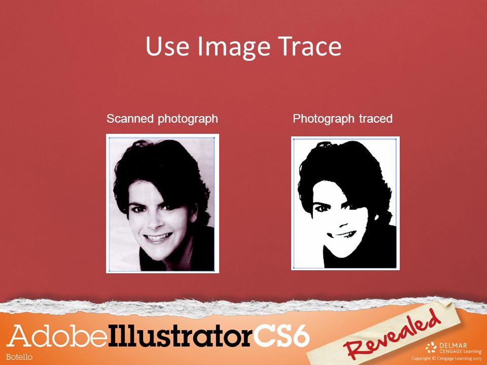Scanned photographPhotograph traced Use Image Trace