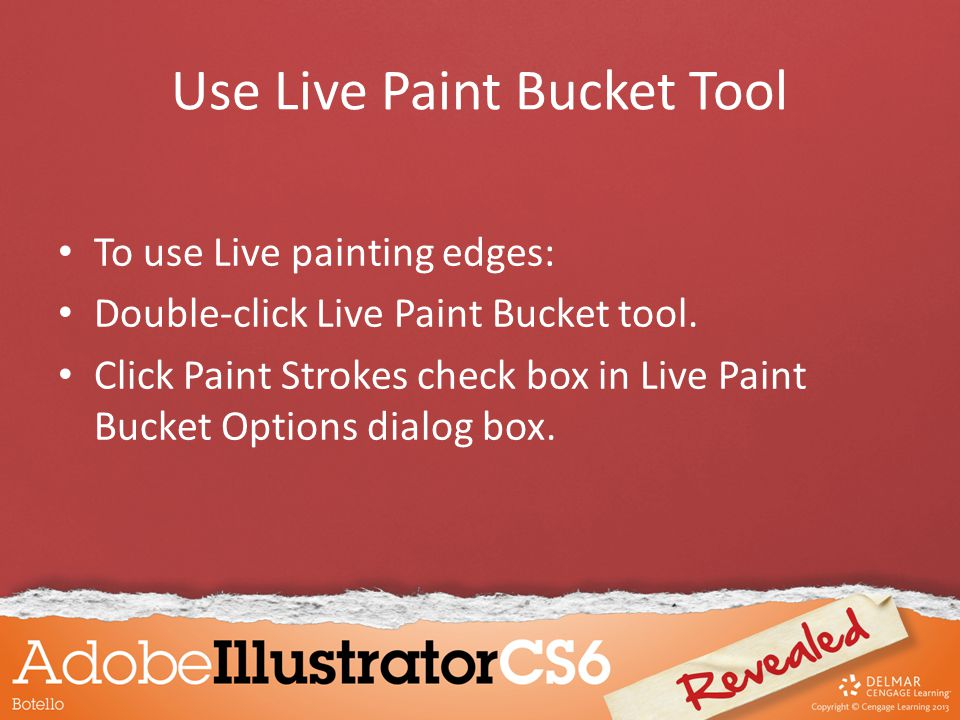 To use Live painting edges: Double-click Live Paint Bucket tool.