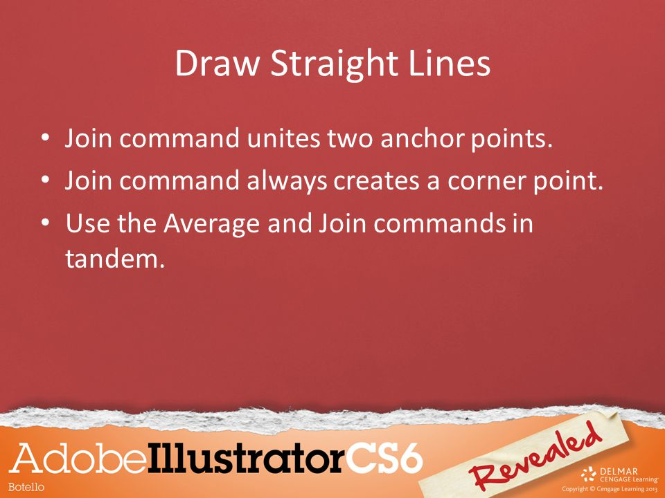 Draw Straight Lines Join command unites two anchor points.