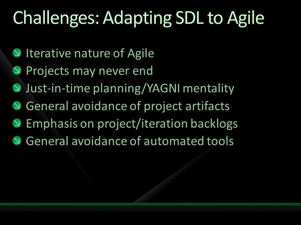 Taskifying the SDL Some are straightforward...