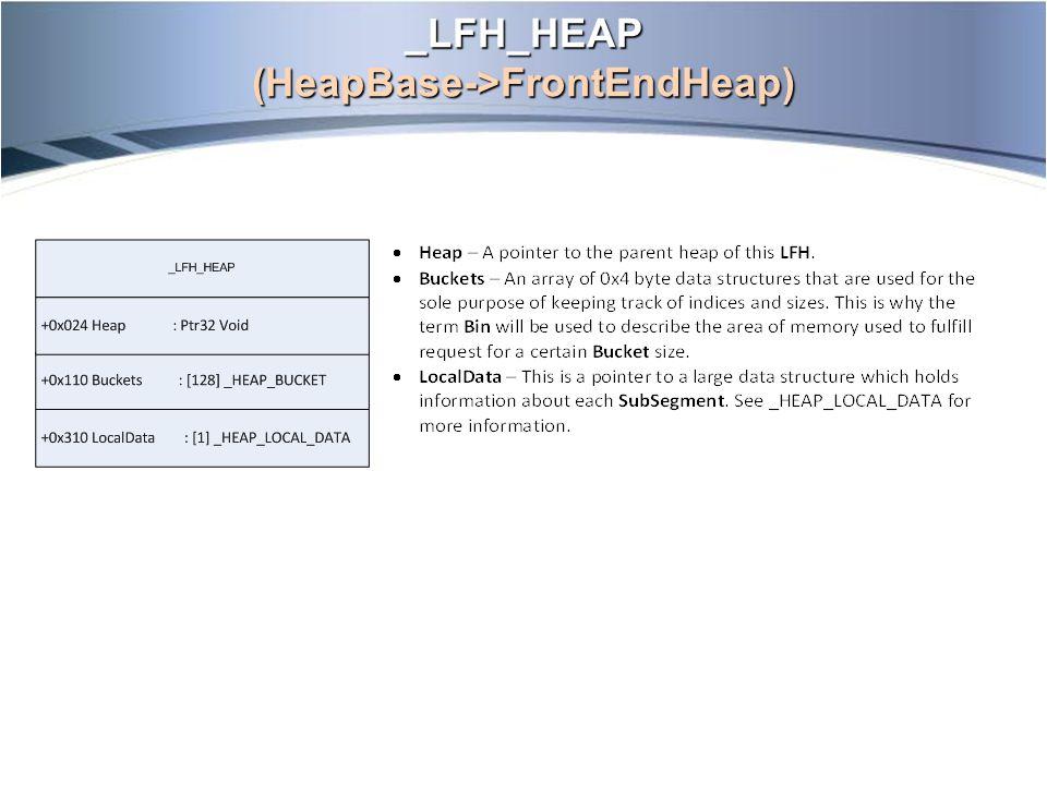 _LFH_HEAP (HeapBase->FrontEndHeap)
