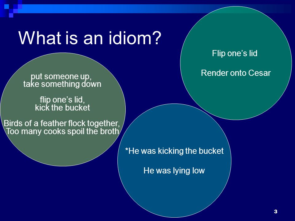 3 What is an idiom.