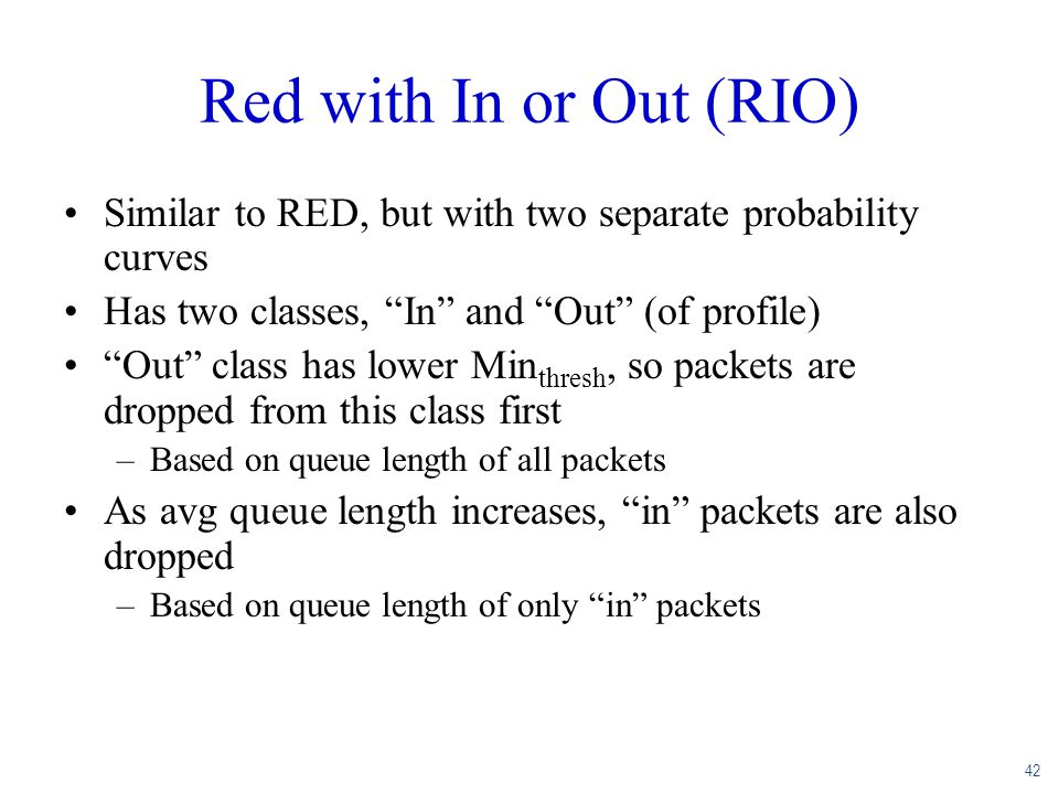 """42 Red with In or Out (RIO) Similar to RED, but with two separate probability curves Has two classes, """"In"""" and """"Out"""" (of profile) """"Out"""" class has lowe"""