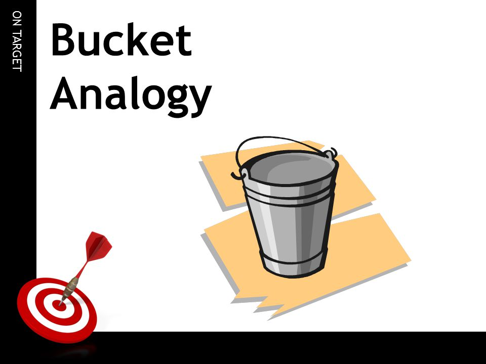 ON TARGET Bucket Analogy