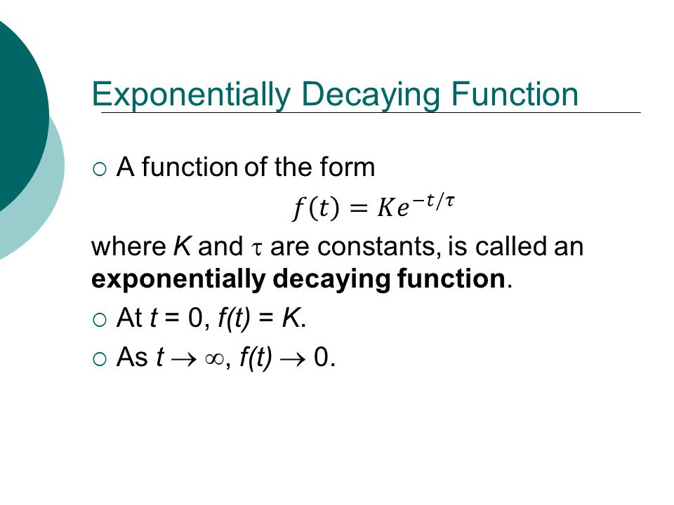 Exponentially Decaying Function