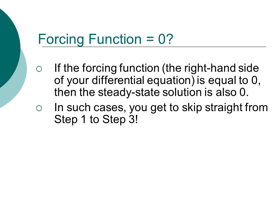 Forcing Function = 0.