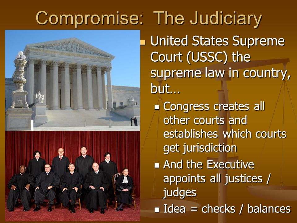 Examples of C&B Congress makes law...President declares war...