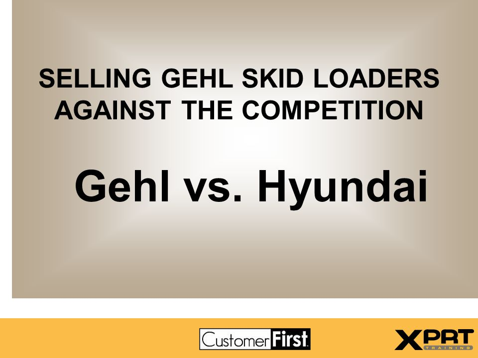 Model Match-ups – Hyundai - Gehl