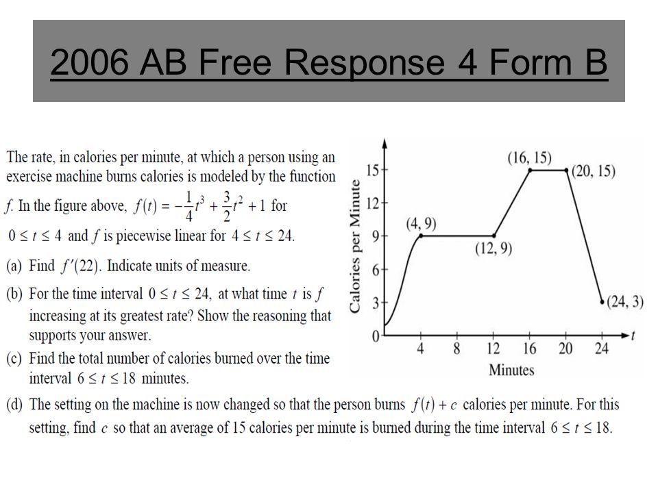 2006 AB Free Response 4 Form B
