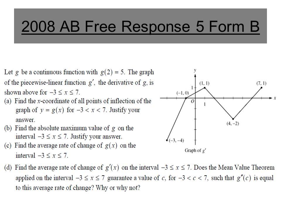 2008 AB Free Response 5 Form B