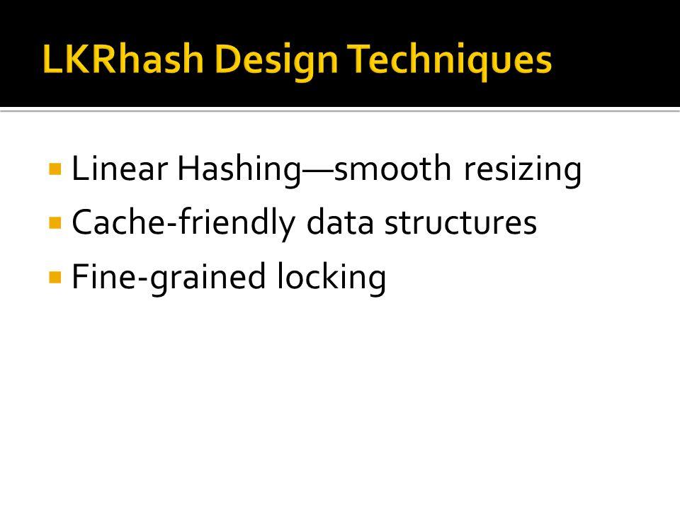  P.-Å.Larson, Dynamic Hash Tables , Communications of the ACM, Vol 31, No 4, pp.
