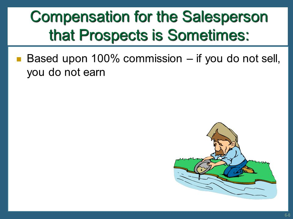 Summary of Major Selling Issues, cont… Popular prospecting methods  Cold canvas  Endless chain methods  Public exhibitions and demonstrations  Locating centers of influence  Direct mailouts  Telephone and observation Salesperson must develop ways of getting to see the prospect 6-39