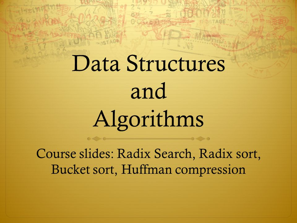 Lecture 10: Searching Radix Searching  For many applications, keys can be thought of as numbers  Searching methods that take advantage of digital properties of these keys are called radix searches  Radix searches treat keys as numbers in base M (the radix) and work with individual digits