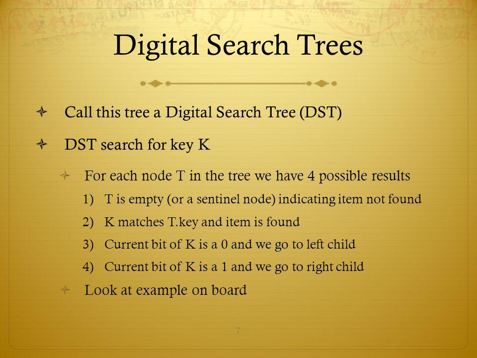 8 Digital Search Trees  Run-times.