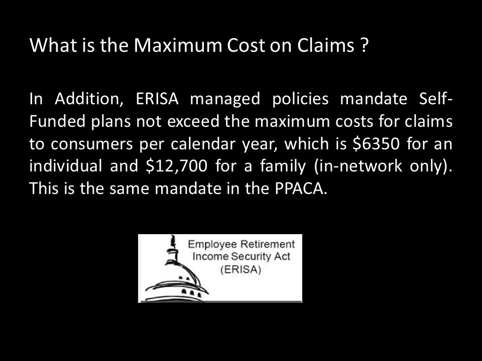 What is the Maximum Cost on Claims .