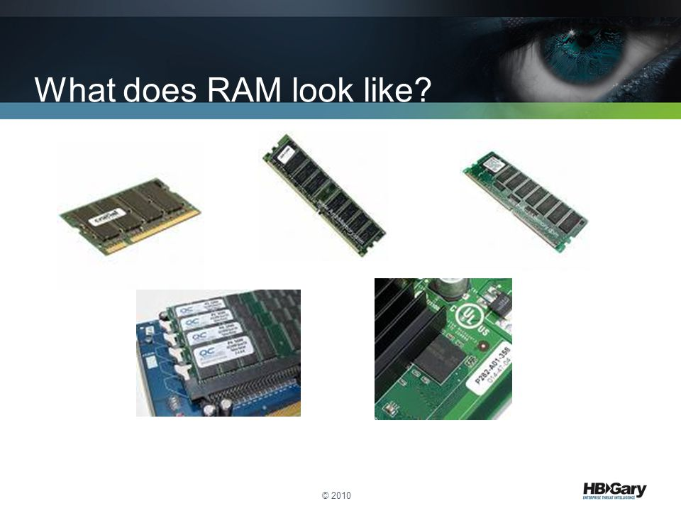 What does RAM look like? © 2010