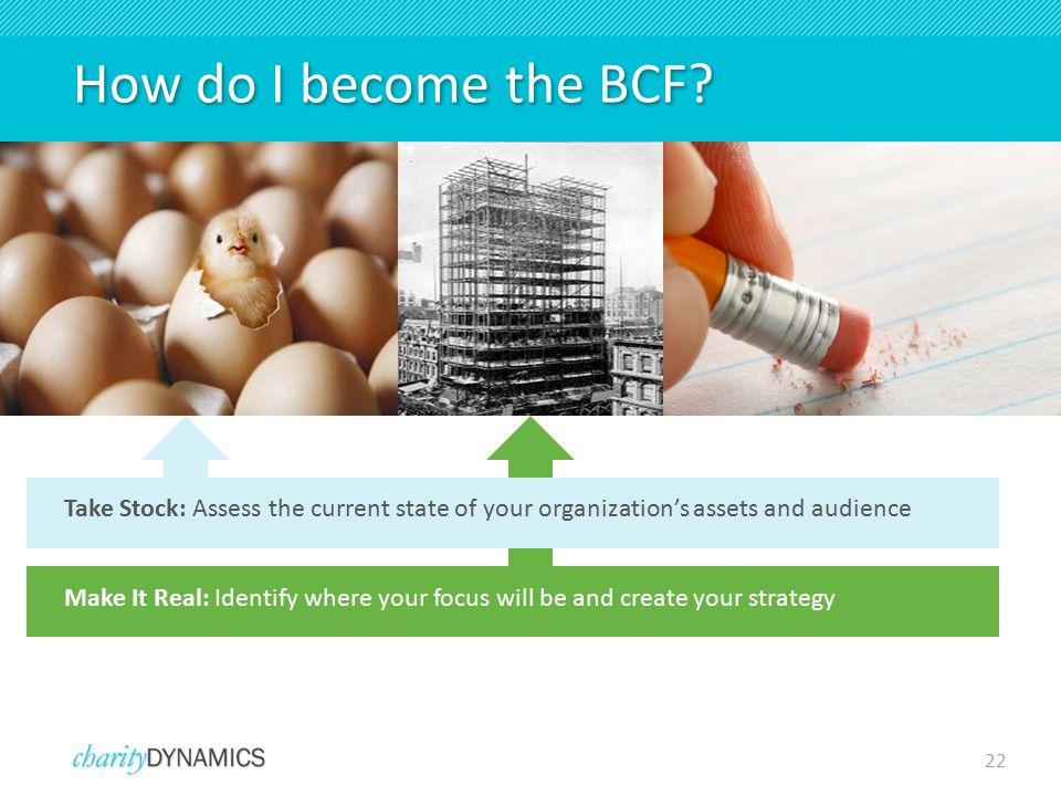 22 How do I become the BCF.