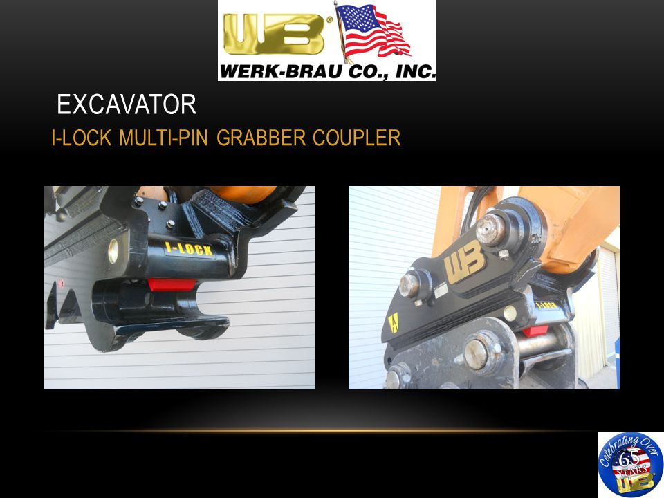 EXCAVATOR I-LOCK MULTI-PIN GRABBER COUPLER