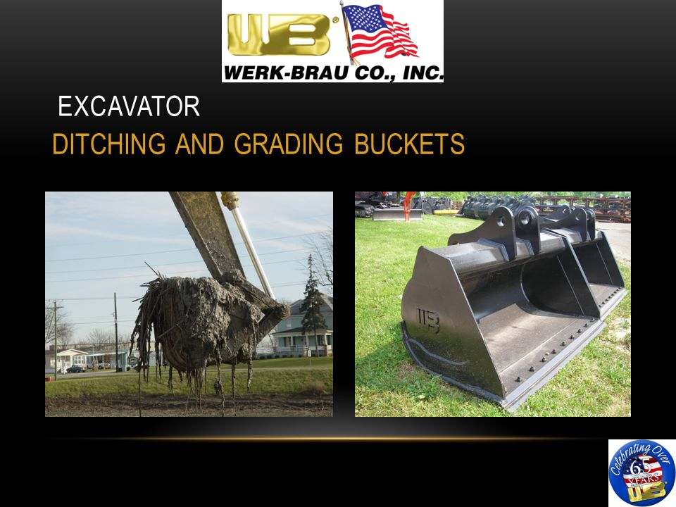 EXCAVATOR DITCHING AND GRADING BUCKETS