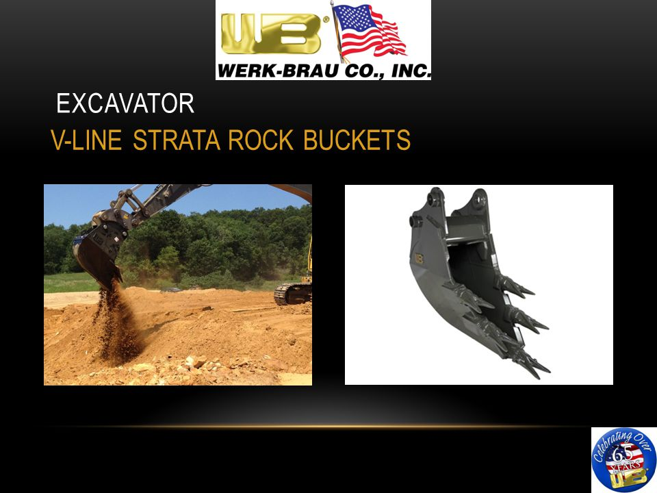 EXCAVATOR V-LINE STRATA ROCK BUCKETS