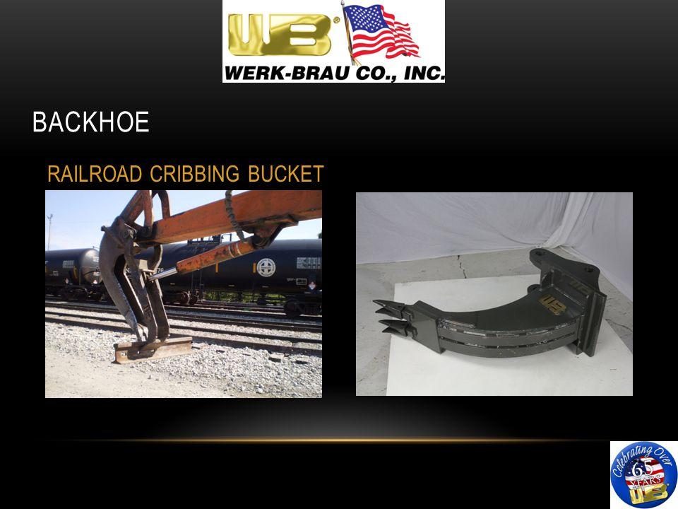 BACKHOE RAILROAD CRIBBING BUCKET