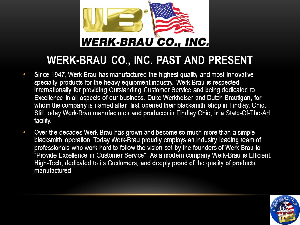 WERK-BRAU CO., INC.