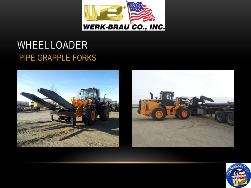 WHEEL LOADER PIPE GRAPPLE FORKS