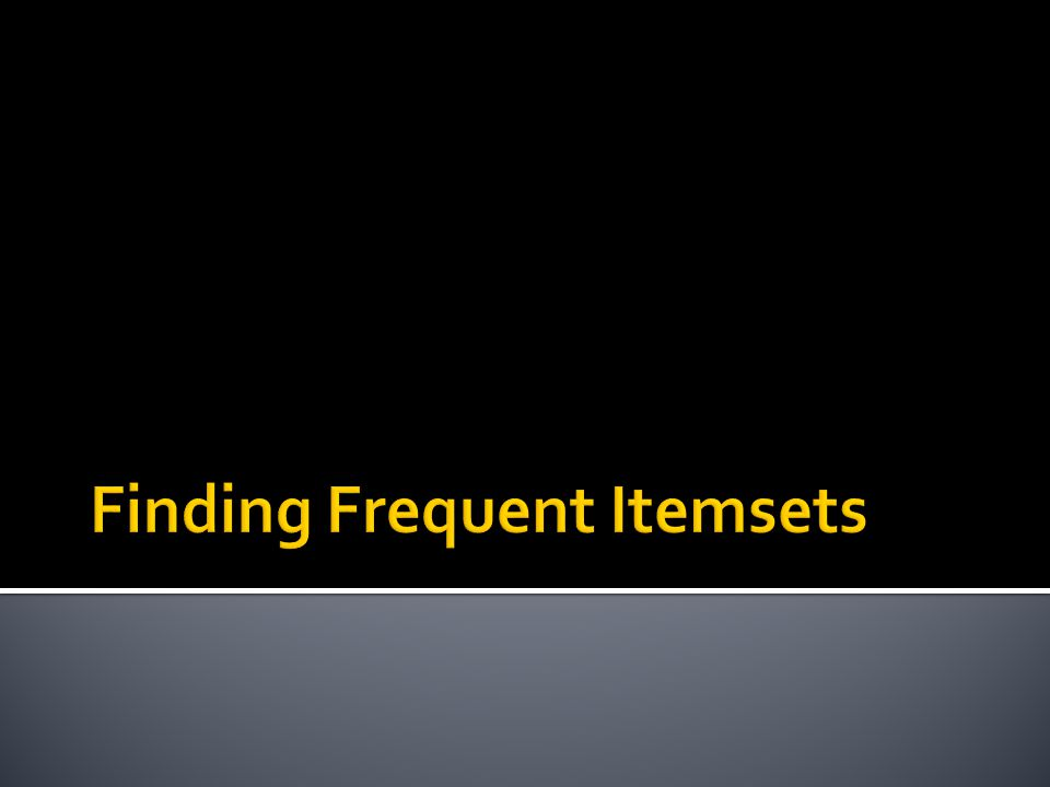  Back to finding frequent itemsets  Typically, data is kept in flat files rather than in a database system:  Stored on disk  Stored basket-by-basket  Baskets are small but we have many baskets and many items  Expand baskets into pairs, triples, etc.