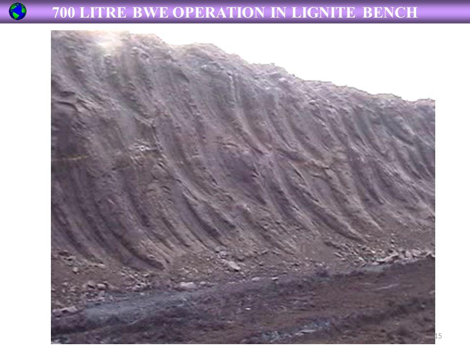 700 LITRE BWE OPERATION IN LIGNITE BENCH 15
