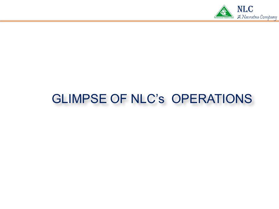 GLIMPSE OF NLC's OPERATIONS NLC A Navratna Company