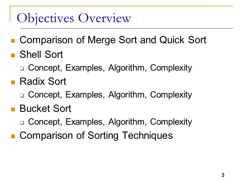 4 Comparison of Merge and Quick Sort In the worst case, merge sort does about 39% fewer comparisons than quick sort does in the average case Merge sort always makes fewer comparisons than quick sort, except in extremely rare cases, when they tie  where merge sort s worst case is found simultaneously with quick sort s best case In terms of moves, merge sort s worst case complexity is O(n log n)—the same complexity as quick sort s best case, and  merge sort s best case takes about half as many iterations as the worst case 4