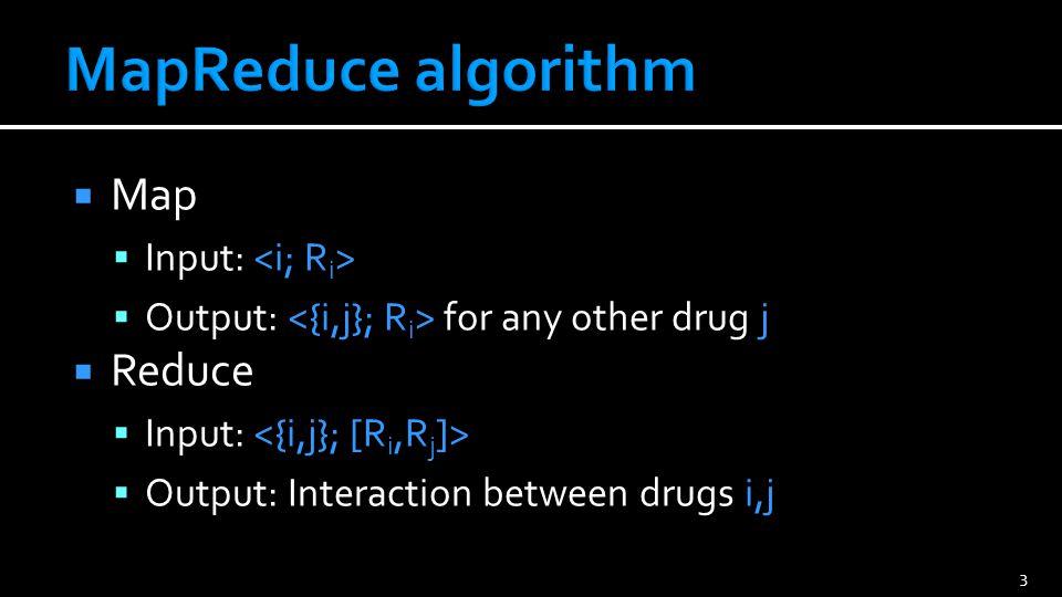 4 Mapper for drug 2 Mapper for drug 1 Mapper for drug 3 Drug 1 data {1, 2} Reducer for {1,2} Reducer for {2,3} Reducer for {1,3} Drug 1 data {1, 3} Drug 2 data {1, 2} Drug 2 data {2, 3} Drug 3 data {1, 3} Drug 3 data {2, 3}