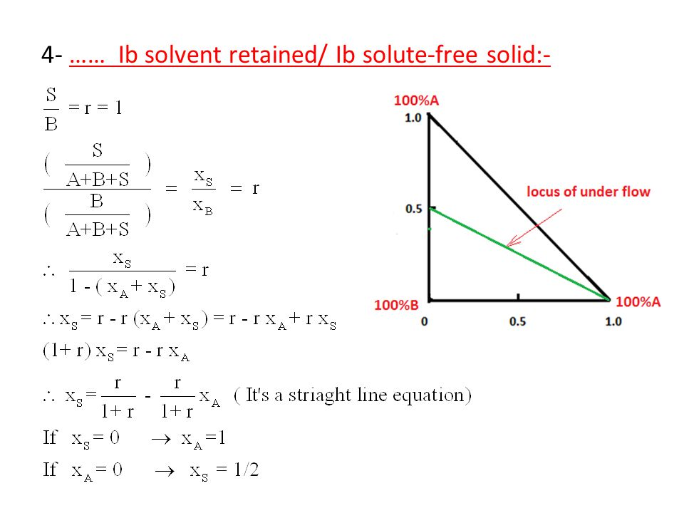 4- …… Ib solvent retained/ Ib solute-free solid:-