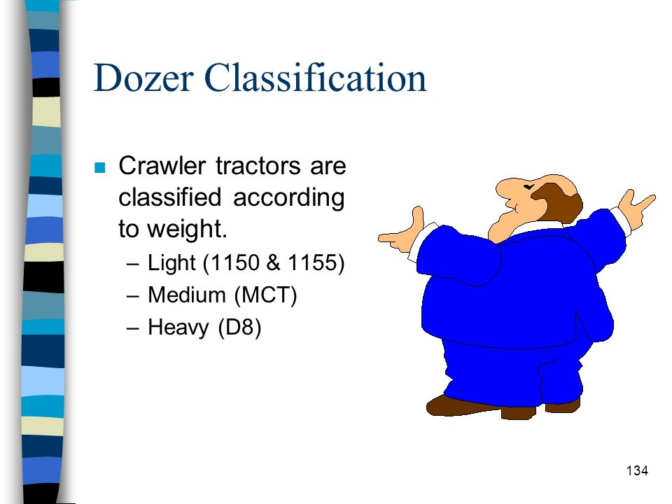 Dozer Uses n Used as prime movers for pushing or pulling loads. n Used for power units for winches and hoists. n As moving mounts for dozer blades. n