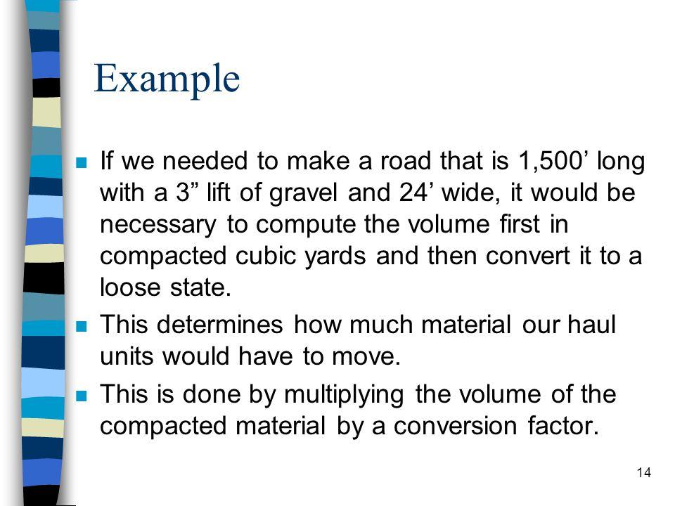 Table #1-1 Soil Conversion Factors 13