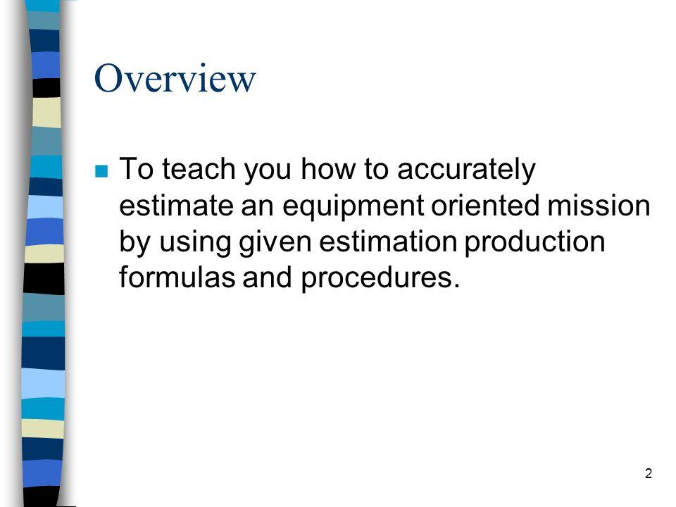 Production Estimation 1