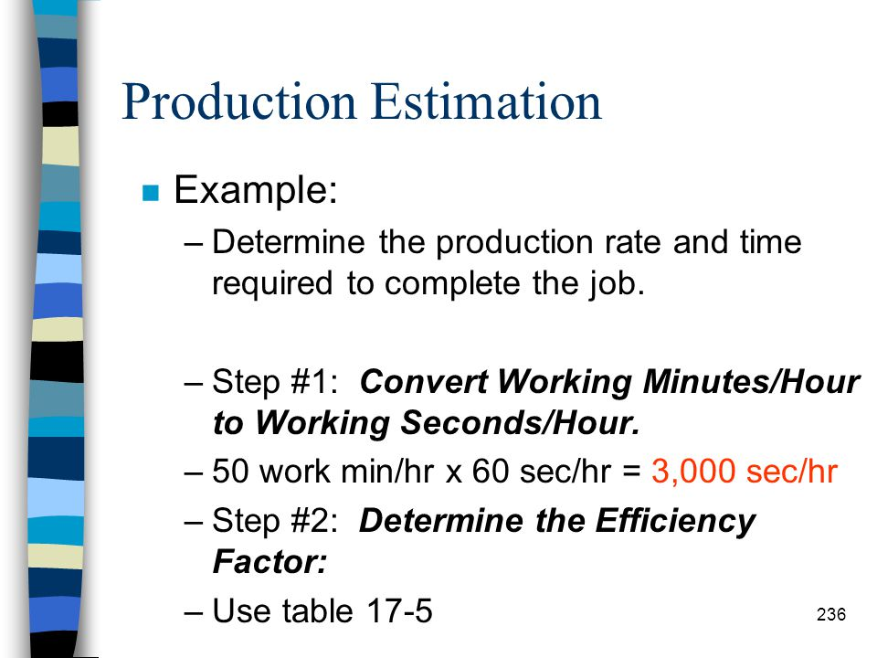 Production Estimation n Because of the factors which effect operation of the clamshell, it is difficult to arrive at production rates that are dependa