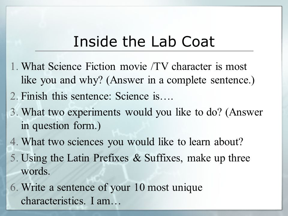 Outside of the Lab Coat 1.Let's decorate your lab coat.