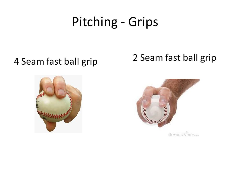 Pitching - Grips 4 Seam fast ball grip 2 Seam fast ball grip