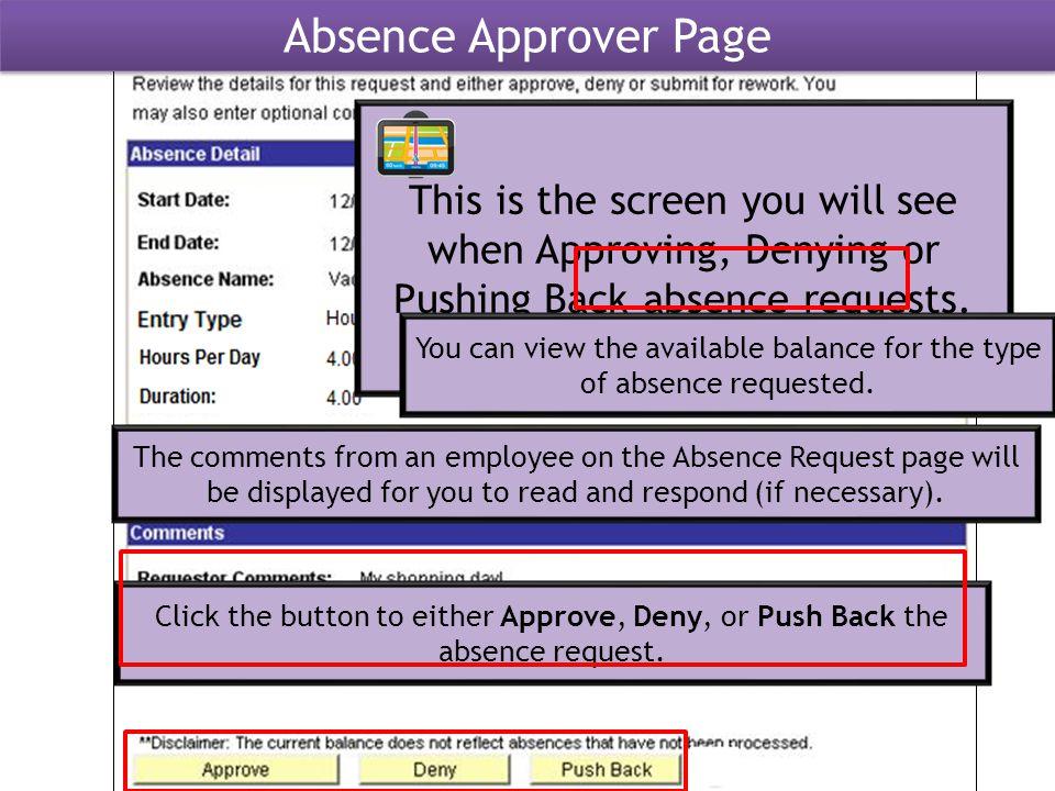 ApproveDenyPush Back Approve, Deny, Push Back