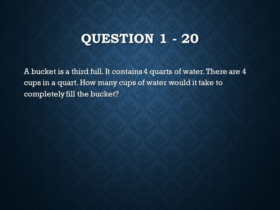 ANSWER 3 – 20 1.25 inches