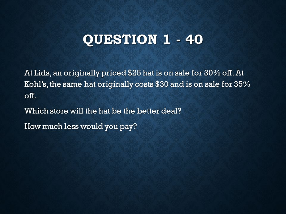 ANSWER 4 – 40 10x-35