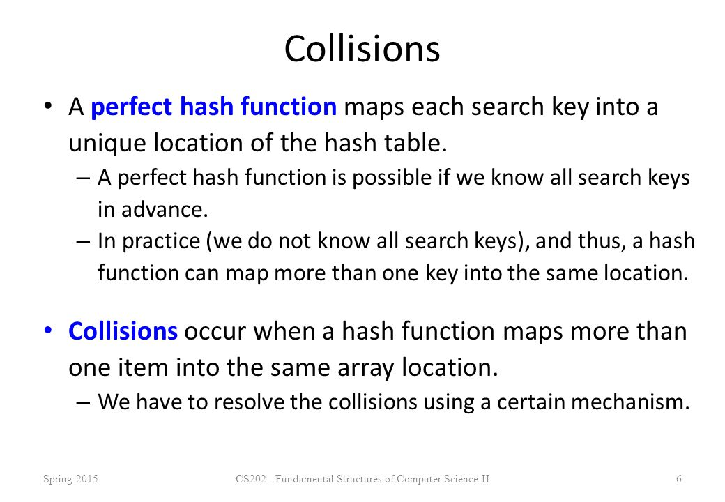 Hash Functions We can design different hash functions.