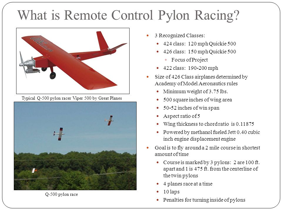 What is Remote Control Pylon Racing.