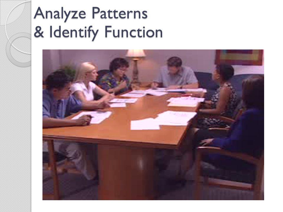 Analyze Patterns & Identify Function